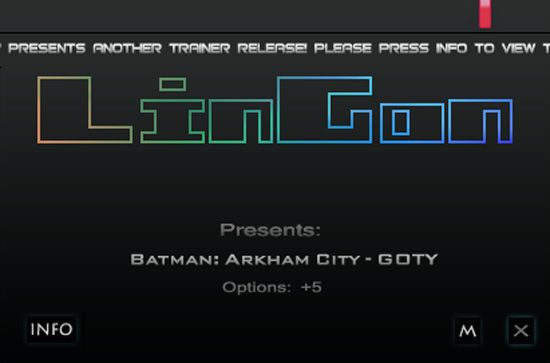 Batman: Arkham City GOTY Edition v1.03 Steam +5 Trainer [LinGon]