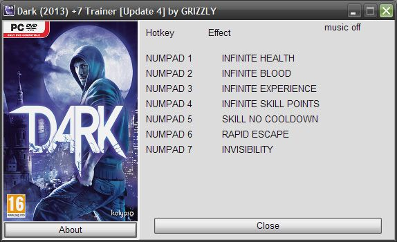 Dark Update 4 +7 Trainer [Grizzly]